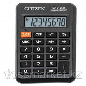 Калькулятор карманный Citizen LC-310NR, 8 разрядный, размеры 69*114*14 мм