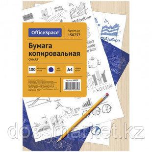 Бумага копировальная OfficeSpace, А4, 100 листов, синяя