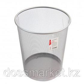 """Корзина для бумаг Berlingo """"Steel&Style"""", объем 20 л, сетчатая, металлическая, серебристая"""