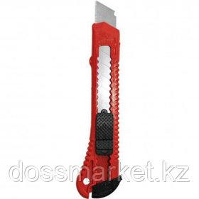 Нож канцелярский Attache, сменные лезвия 18 мм, красный