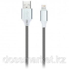 Интерфейсный кабель SmartBuy iK-512NS, USB (AM) - Lightning (M), для Apple, 2A, 1 м, белый/черный