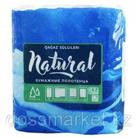 """Полотенца бумажные Маолин """"Natural"""", 2-х слойные, 2 рулона в упаковке, 22 м, белые"""