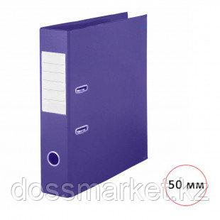 "Папка-регистратор Deluxe ""Office"", А4, ширина корешка 50 мм, фиолетовая, двусторонняя"