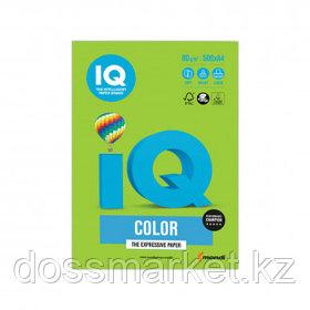 Бумага IQ Color Intensive, А4, 80 г/м2, 500 листов, ярко-зеленая