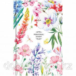 """Ежедневник недатированный OfficeSpace """"Цветы. Яркий мир"""", А5, 160 л"""