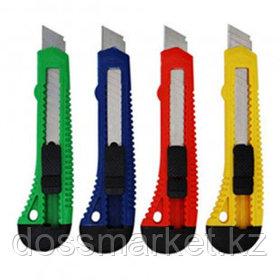 Нож канцелярский OfficeSpace, сменные лезвия 18 мм, в индивидуальной упаковке, ассорти