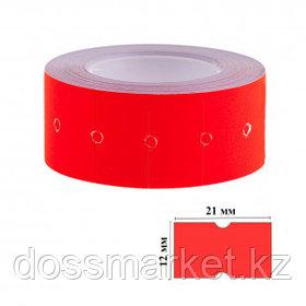 Этикет-ценник OfficeSpace, прямоугольные, 21 мм*12 мм, 500 шт. в рулоне, красный