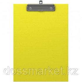 Планшет А4 формата Erich Krause Neon, с верхним прижимом, желтый