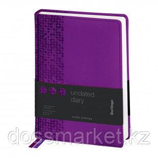 """Ежедневник недатированный Berlingo """"Vivella Prestige"""", А5, 160 л., фиолетовый"""