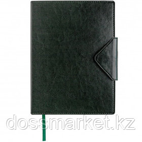 Ежедневник датированный Misterio, 2021 г., А5, 176 л., на застежке, зеленый