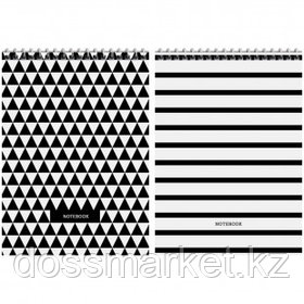 """Блокнот ArtSpace """"Узоры. BW Pattern"""", А5, 60 листов, на гребне, в клетку"""