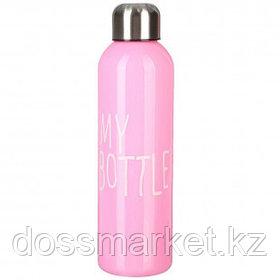 """Бутылка для воды """"My bottle"""", 500 мл, пластик, розовая"""