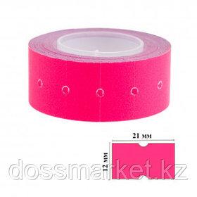 Этикет-ценник OfficeSpace, прямоугольные, 21 мм*12 мм, 500 шт. в рулоне, малиновый