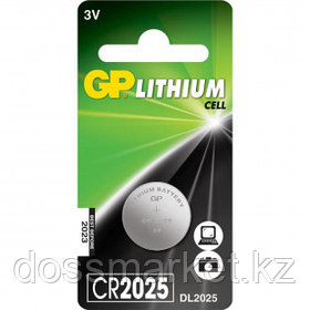 Батарейки GP дисковые CR2025, 3V, 2,5*20 мм, 1 шт., цена за штуку