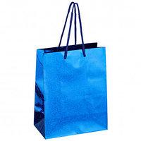 Пакет подарочный ArtSpace, размер 18*23*10 см, синий, голографическая бумага