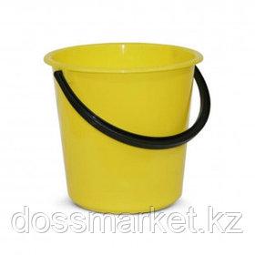 Ведро пластиковое, 10 литров, пищевой, желтое