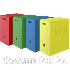 Архивный короб OfficeSpace, микрогофрокартон, 150*250*320 мм, вместимость 1400 листов, ассорти
