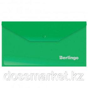 Папка-конверт с кнопкой Berlingo, С6, 180 мкм, зеленая