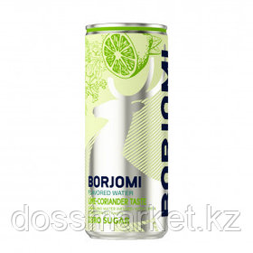 """Вода минеральная """"Боржоми"""", со вкусом лайма и кориандра, 0,33 л, жестяная банка"""