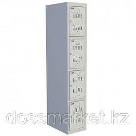 """Шкаф индивидуальный Промет """"Практик ML 14-30"""" (базовый модуль), 4 секции, 300*500*1830 мм, серый"""