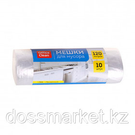 Мешки для мусора OfficeClean на 120 л, 10 шт. в рулоне, белые