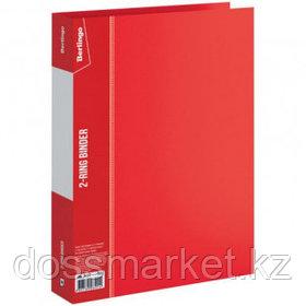 Папка Berlingo, А4 формат, на 2 кольцах, корешок 40 мм, красная