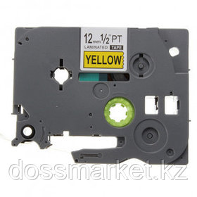 Лента для печати наклеек Brother TZе-631, ширина 12 мм, длина 8 м, черная на желтом фоне