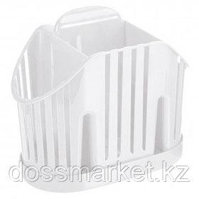 Сушилка для столовых приборов Idea, 3 секции, 160*110*190 мм, пластик, белый
