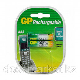 Аккумулятор GP 65AAAHCRA, мизинчиковые АAA, Ni-MH, 650 mAh 1.2V, 2 шт, цена за упаковку