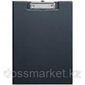 Папка-планшет OfficeSpace, А4, с верхним прижимом и крышкой, ПВХ, черный