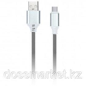 Интерфейсный кабель SmartBuy iK-3112NS, USB 2.0 (A) - Type C, 2A, 1 м, белый/черный
