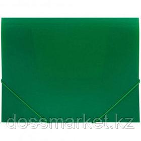 Папка OfficeSpace, А4 формат, 500 мкм, на резинке, зеленая