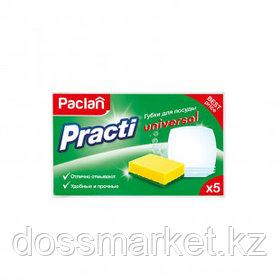 """Губки для мытья посуды Paclan """"Practi Universal"""", в комплекте 5 шт."""