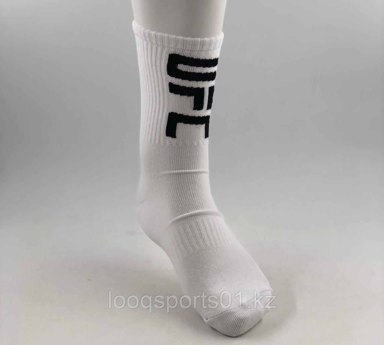Спортивные носки под борцовки, UFC белые
