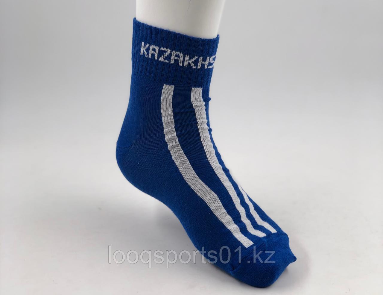 Спортивные носки под борцовки, Kazakhstan (синие)