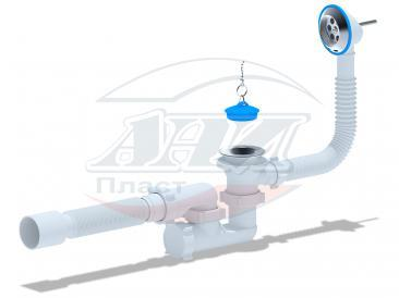 Варяг сифон Ани Пласт для ванны регулируемый с г/т 40х50 - 25 ш/к С6255