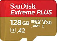 SanDisk Extreme Plus microSDXC 128GB + SD Adapter + Rescue Pro Deluxe 170MB-s A2 C10 V30 UHS-I U3 EAN: