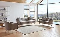 Комплект мягкой мебели Florence, серо-бежевый