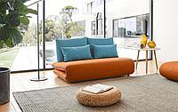 Диван-кровать Justin-2, оранжевый/бирюзовый