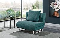 Кресло-кровать Rosy, темно-бирюзовый/хром