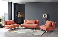 Комплект мягкой мебели Rosy, папайя/хром