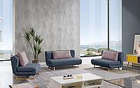 Комплект мягкой мебели Rosy, синий
