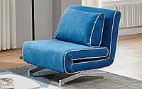 Кресло-кровать Denny, лазурный/хром