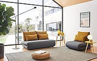 Комплект мягкой мебели Justin, темно-серый/желтый