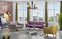 Комплект мягкой мебели Copenhagen, лиловый/бежевый/желтый