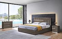 Кровать с подъемным механизмом Roberta, каштан
