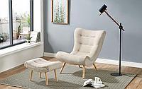 Кресло с оттоманкой Dolce Vita, кремовый/натуральный