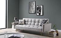 Диван-кровать Madrid, светло-серый/золотые ножки