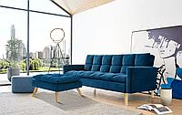 Диван-кровать Felicity, цвет темно-синий/натуральный