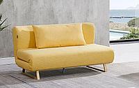Диван-кровать Rosy 3-х местный, желтый/без принта